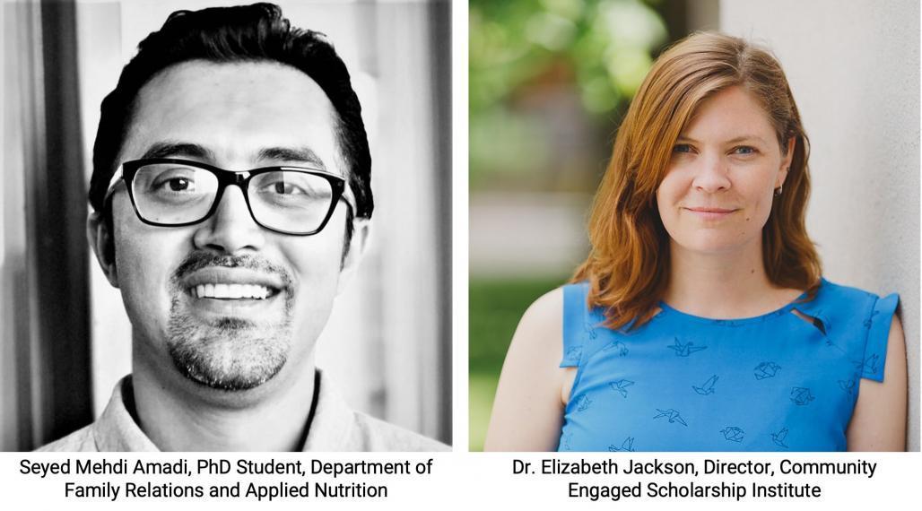 Headshots of Seyed Mehdi Amadi and Dr. Elizabeth Jackson
