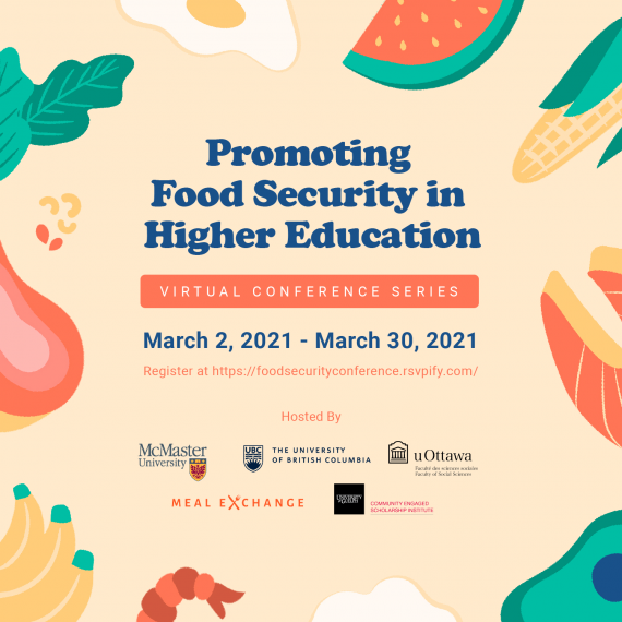 Event poster; displays event details and and cartoon images of food.