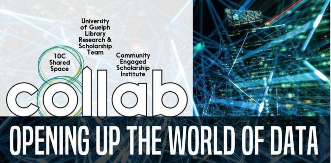"""Image reads the title of the event, """"Opening up the world of data"""" and the three organizations co-hosting it."""