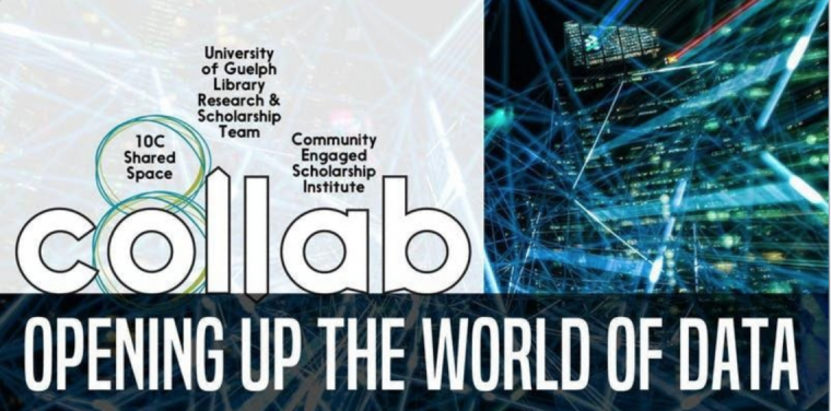 "Image reads the title of the event, ""Opening up the world of data"" and the three organizations co-hosting it."